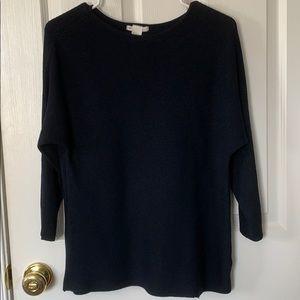 Navy Blue 3/4 Sleeve Sweater